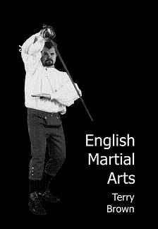 Terry_Brown, posing for his book: English Martial arts